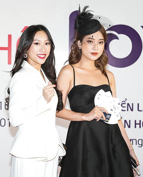 Hot girl Trang Olive (trái)và Trương Hoàng Mai Anh.