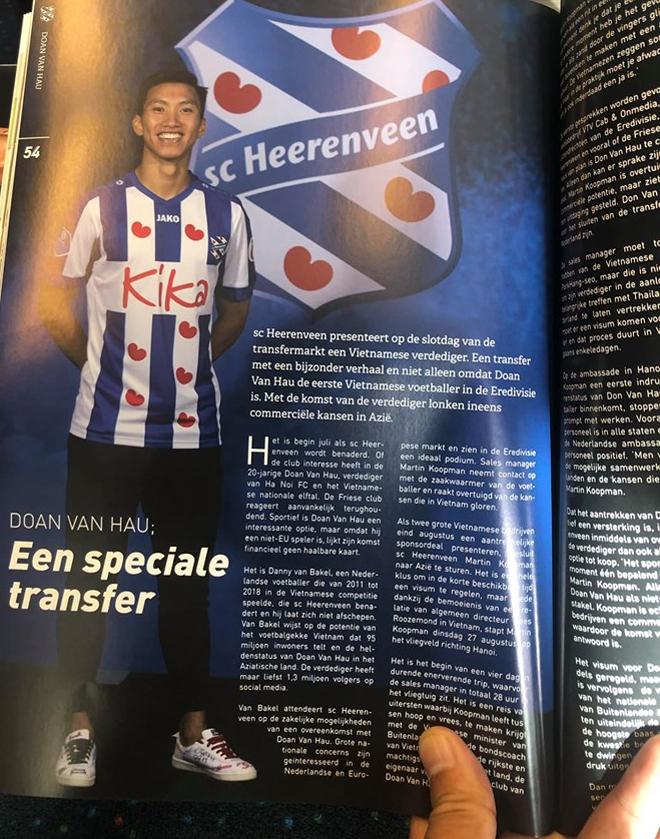 <p> Hình ảnh đầu tiên của Văn Hậu xuất hiện trên catalog của đội bóng Hà Lan.</p>