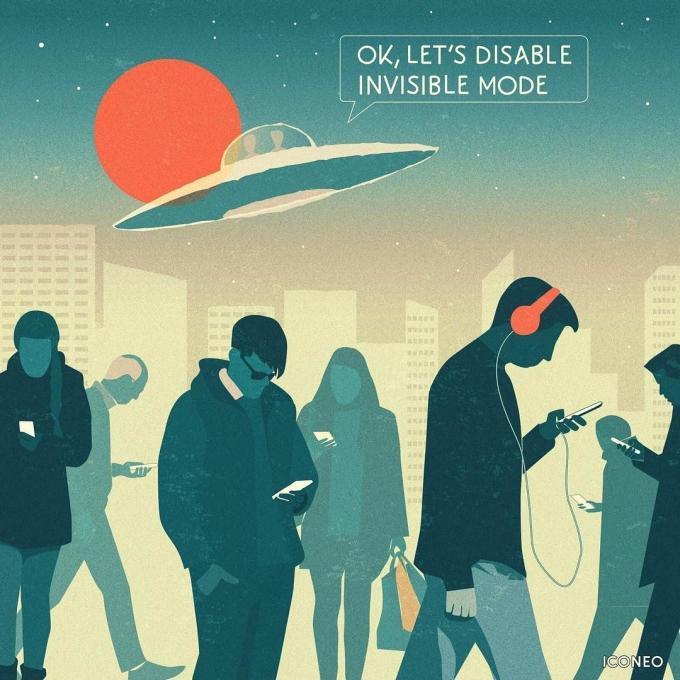<p> Ở thế giới hiện đại con người chẳng mấy khi quan sát mọi vật xung quanh đang thay đổi ra sao. Bởi điều họ quan tâm là những chiếc điện thoại. Thay vì ngước mắt lên nhìn mọi thứ, họ chỉ biết cúi đầu.</p>