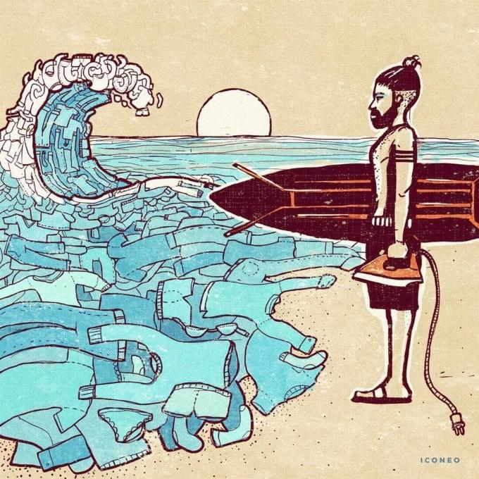 <p> Biển là nhà, không phải một bãi rác công cộng để bạn xả rác bừa bãi.</p>
