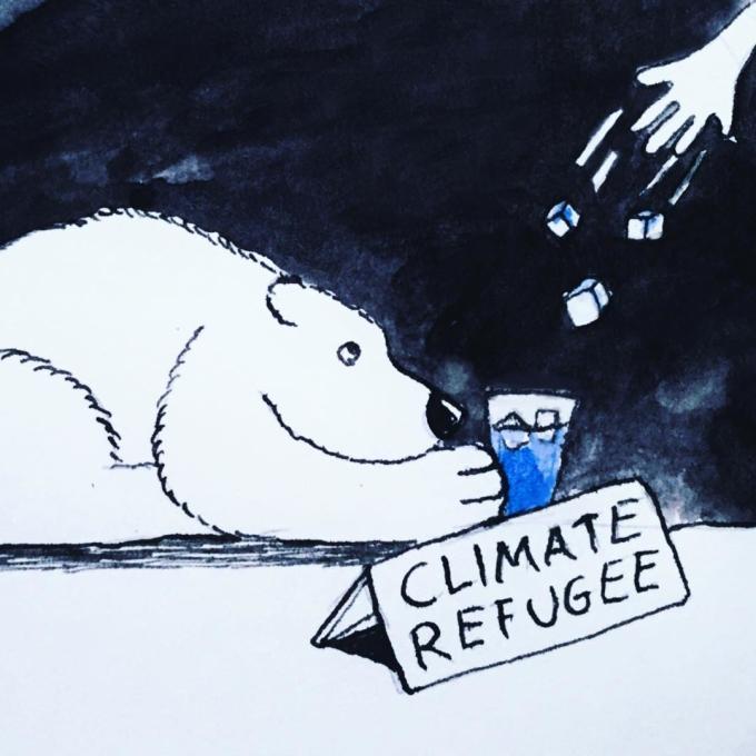 """<p> Những con gấu tại Bắc cực đang chờ đợi và """"van nài"""" từng viên băng đá - thứ mà trước kia nhiều vô tận.</p>"""