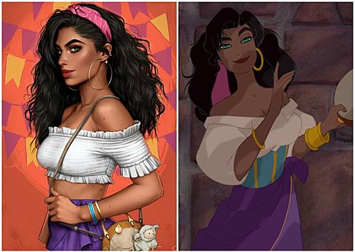 Nàng Esmeralda trong Thằng Gù ở Nhà thờ Đức Bà.