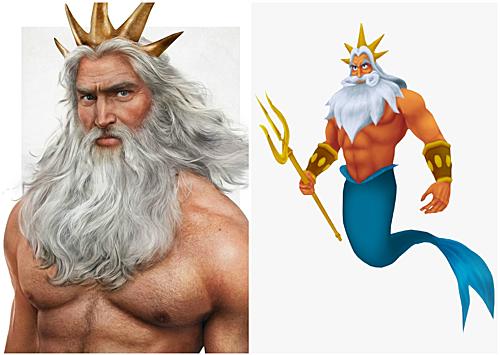 Vua Triton, cha của Nàng tiên cá.