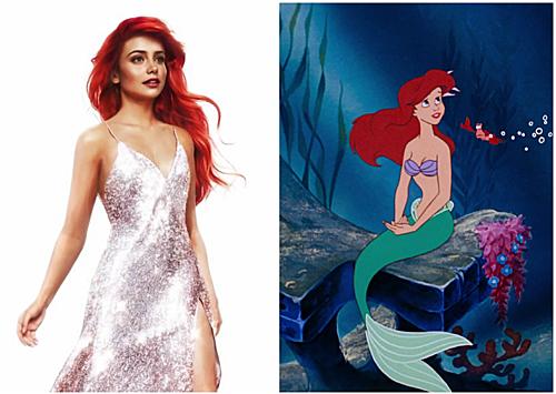 Nàng tiên cá Ariel.