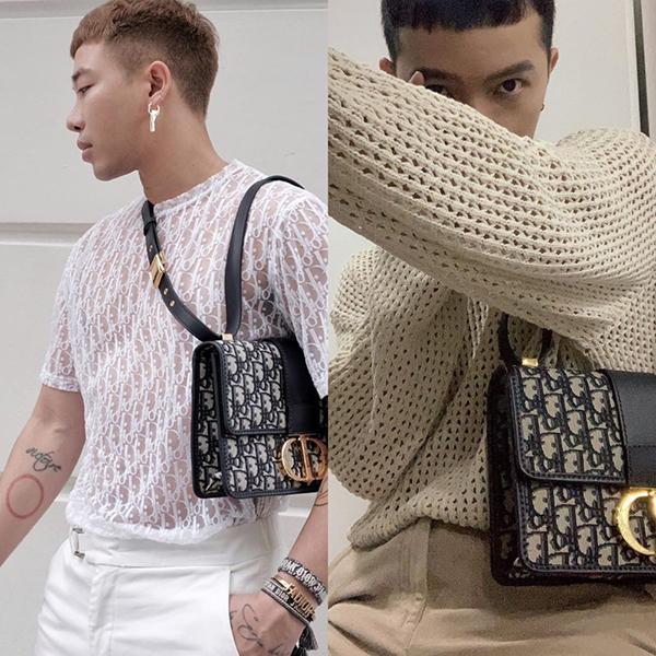 Hoàng Ku và Kelbin Lei cũng thi nhau sở hữu chiếc túi danh giá của nhà mốt Dior.