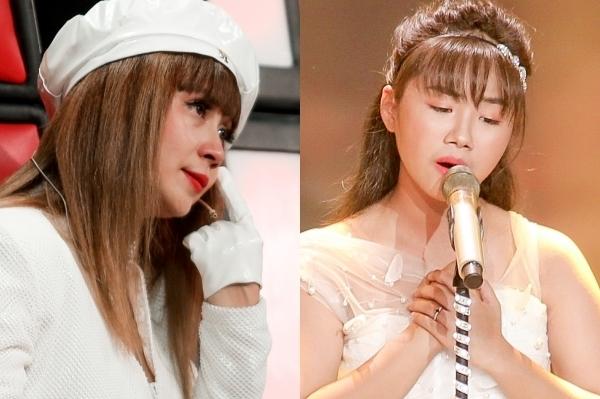 Lưu Thiên Hương bật khóc nghe Khánh An hát về mẹ.