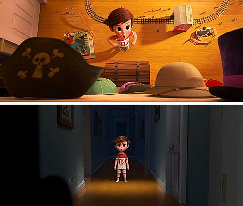 Trong The Boss Baby, số trên áo phông của Tim thay đổi từ 01 thành 02 sau khi có em trai, thể hiện Tim không còn là ưu tiên số một đối với bố mẹ.