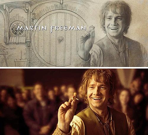 Trong phần credit củaThe Hobbit: The Battle of the Five Armies, tranhvẽ Martin Freeman dựa trên bức ảnh thật của anh.