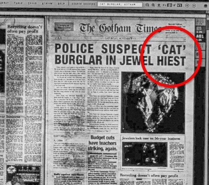 """<p> Tờ báo trong phim<em> The Dark Knight Rises</em> viết sai chính tả từ """"trộm"""" (heist) nhưng không ai trong đoàn làm phim phát hiện ra.</p>"""