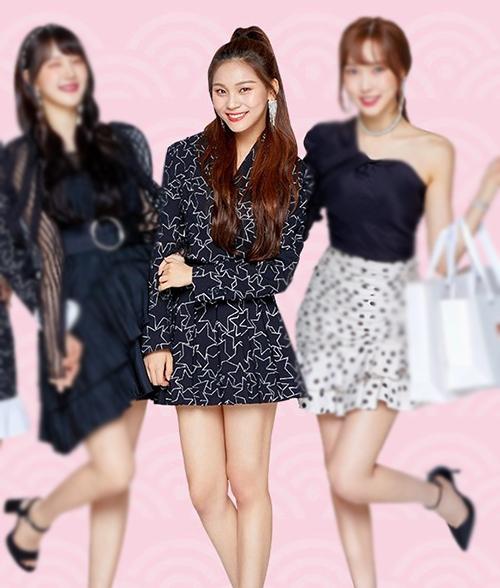 Um Ji (GFriend) cũng diện váy theo cách cơ bản giống Park Bom.