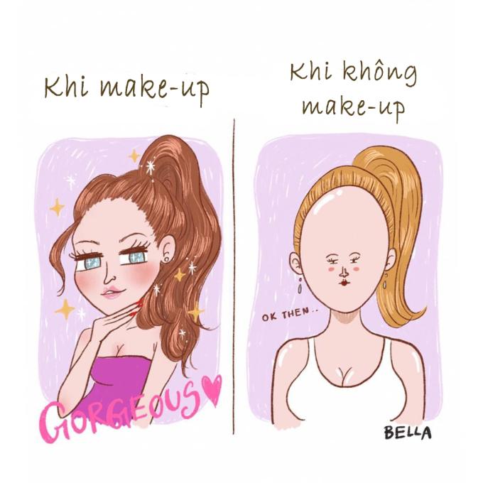 <p> Trình độ make-up của hội con gái luôn đạt đỉnh cao...</p>
