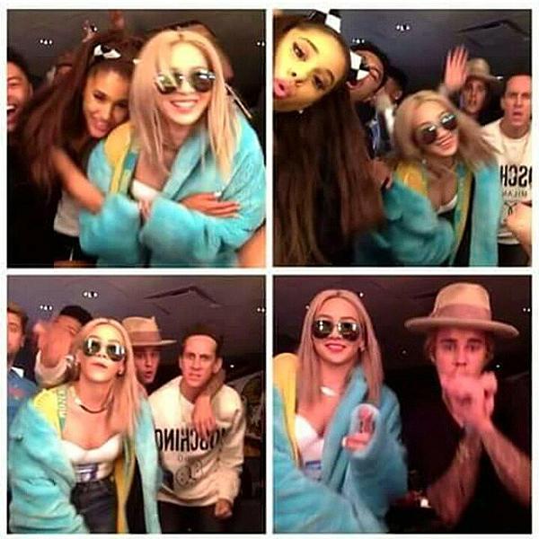 Justin Bieber, nhà thiết kế Jeremy Scott và Ariana Grande có mối quan hệ tốt đẹp với CL (2NE1).