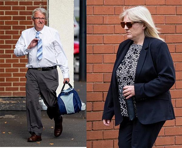 Sherry Bray (phải) và Christopher Ashford bị tuyên án tù vì làm rò rỉ hình ảnh trái phép.