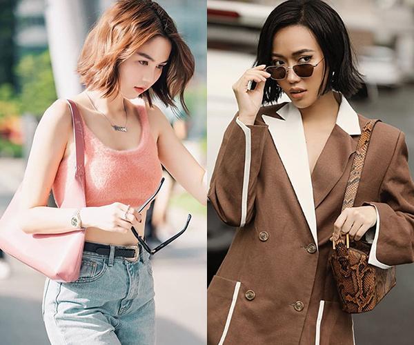 Ở đời thường, hai cô gái có mối quan hệ thân thiết.Tóc ngắn xoăn gẫy, style lên đồ vintage kiểu Âu Mỹ, túi đeo vai... là những style làm nên sự tương đồng phong cách giữa Ngọc Trinh và Diệu Nhi.