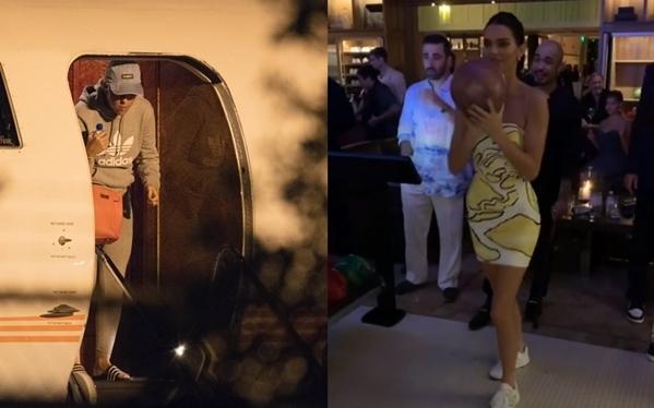 Katy Perry (trái) đã hạ cánh đến Montage Palmetto Bluff vào tối 29/9. Trong khi đó, Kendall Jenner đã có mặt từ sớm để tham gia bữa tiệc trước đám cưới cùng bạn bè.