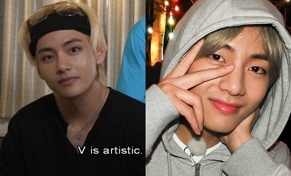 V (BTS) nổi tiếng với nhan sắc hàng đầu. So với vẻ siêu thực mỗi lần đeo lens trình diễn, nam idol sinh năm 1995 được khen nam tính hơn khi tẩy trang.