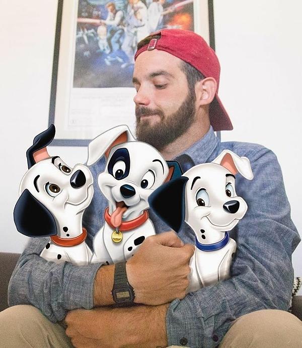 Sự đáng yêu đến từ ba chú chó đốm.