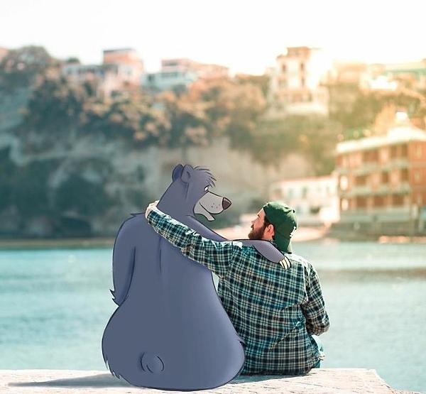 Ngắm cảnh cùng gấu xám trong bộ phim Cậu bé rừng xanh.
