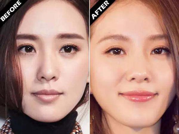 Gương mặt của Lưu Thi Thi trông cứng nhắc nếu cô theo mốt mày ngang Hàn Quốc. Vẻ đẹp dịu dàng, trong trẻo của cô chỉ được tôn lên nếu kẻ lông mày cong mảnh, tông nâu hoe vàng.