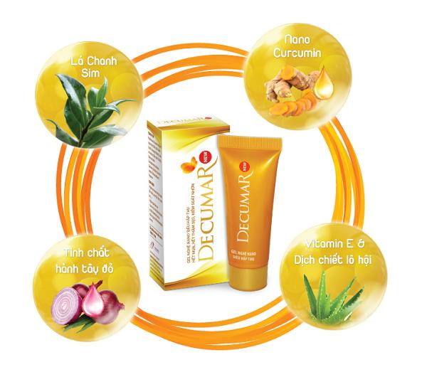Sản phẩm Decumar New chứa các thành phần tiên tiến giúp trị mụn.