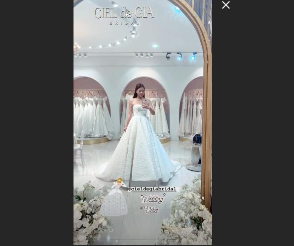 Linh Trương xinh đẹp trong chiếc vấy cưới.