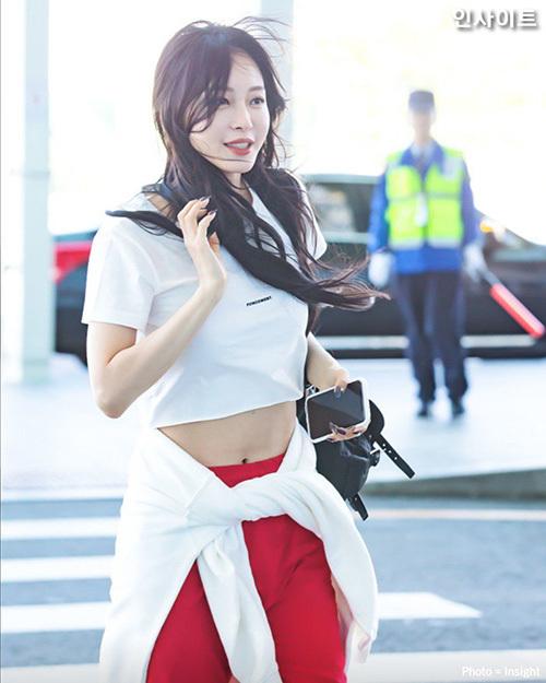 Những hình ảnh khi ra sân bay của Han Ye Seul được khen đẹp như ảnh tạp chí.