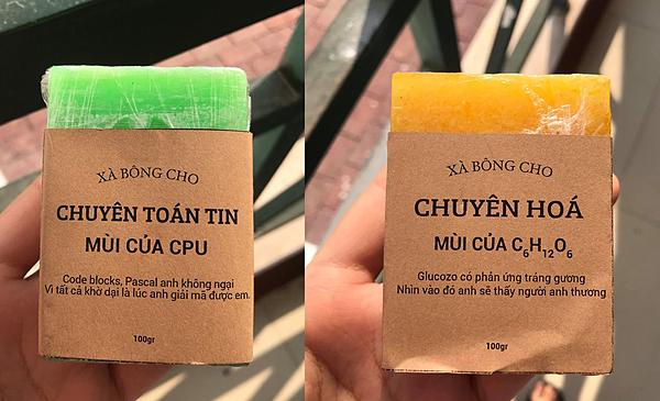 Độc đáo bánh xà bông thả thính của học sinh trường chuyên - 3