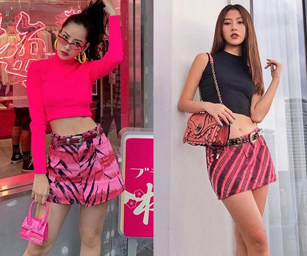 Những khi không mặc chung đồ, đôi chị em showbiz vẫn có lối phối đồ tương tự.