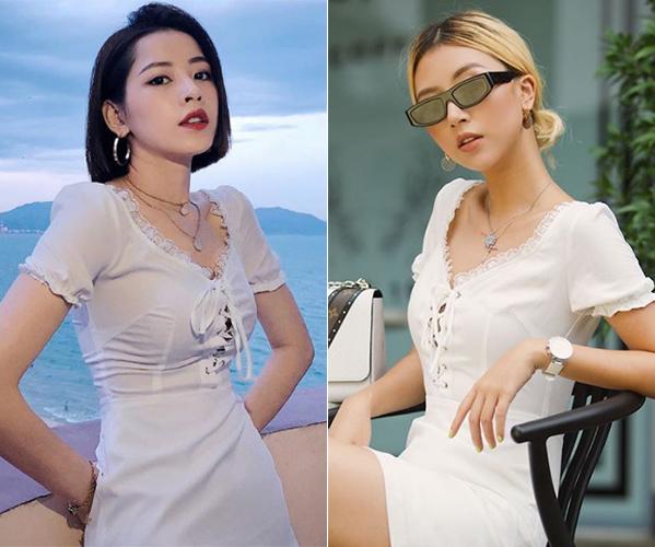 Ở chung nên Chi Pu và Quỳnh Anh Shyn còn diện đồ theo tiêu chí một người mua, hai người mặc. Tuy diện đồ giống nhau, cả hai trông vẫn có nét riêng. Trong khi Chi Pu sang chảnh kiểu Hàn thì Quỳnh Anh Shyn giống hệt con gái phương Tây.