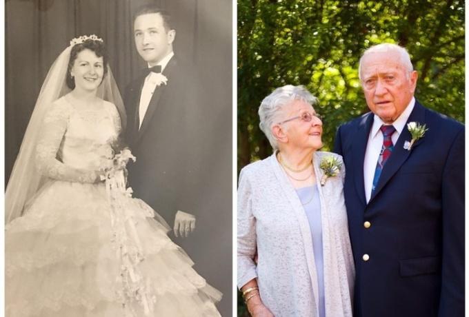 <p> 60 năm sau một đám cưới hạnh phúc, đôi mắt của bà vẫn tràn đầy tình yêu.</p>