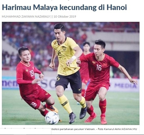 Tờ báo Malaysia thừa nhận đội nhà đã thua tâm phục khẩu phục Việt Nam.