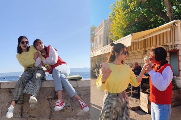 Cho Rong và Bomi (Apink) có loạt ảnh tình bể bình trong chuyến đi Croatia.