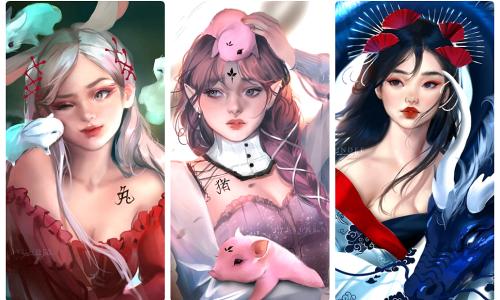 12 con giáp biến hóa thành 'nữ thần bước ra từ truyện tranh'
