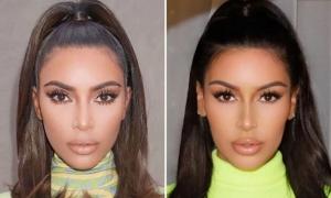 Cặp chị em giống hệt Kim và Kylie Jenner