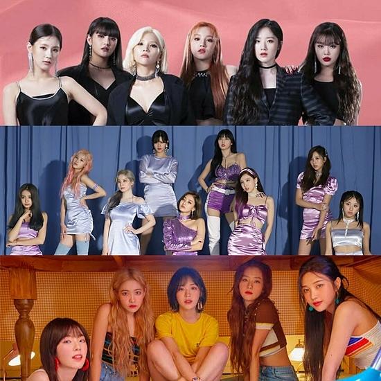 (G)I-DLE, Twice và Red Velvet.