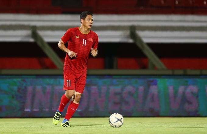 """<p> """"Lão tướng"""" Anh Đức. Ở trận đấu trước, anh được HLV Park cho vào sân thay thế Công Phượng ở hiệp hai và hoàn thành khá tốt vai trò.</p>"""
