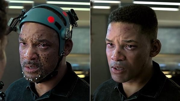 Will Smith sử dụng công nghệ bắt chuyển động, diễn xuất như bình thường, sau đó được các kỹ thuật viên giúp hồi xuân. Ảnh: Paramount Pictures.