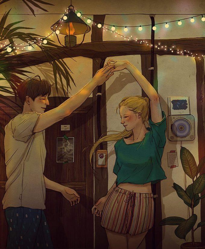 <p> Có những giây phút lãng mạn chỉ thuộc về nhau.</p>