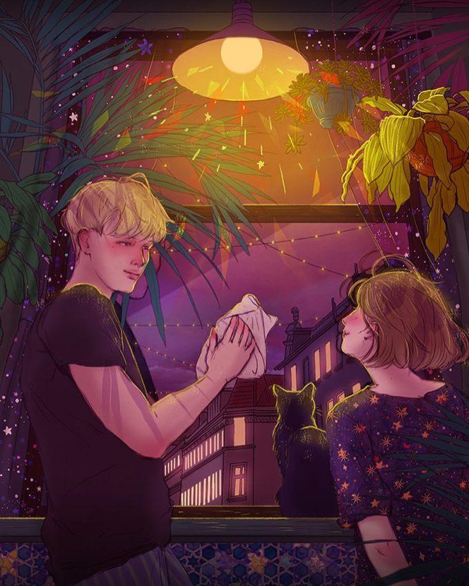 <p> Tình yêu là được cùng nhau ngắm nhìn thế giới qua ô cửa sổ căn nhà của đôi ta.</p>