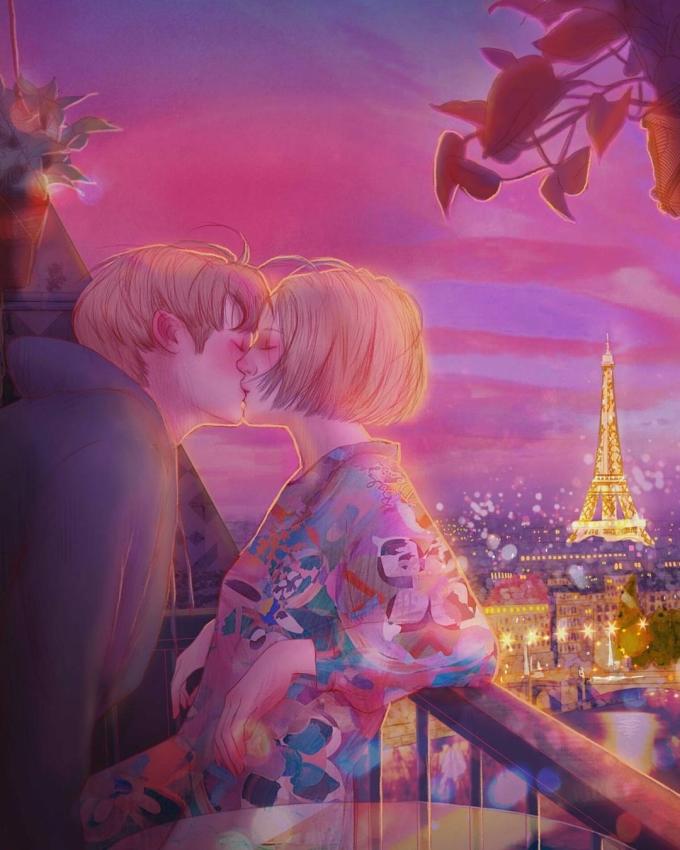 <p> Và cùngtrao những nụ hôn ngọt ngào đầy say đắm.</p>
