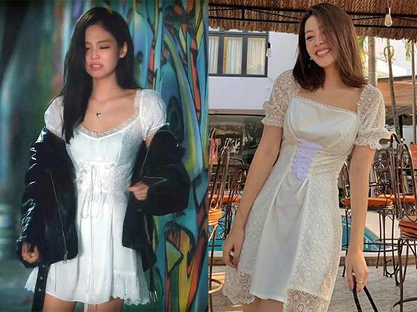 Đây không phải lần đầu tiên Chi Pu đụng độ với Jennie. Trước đó nhiều lần người đẹp Hà thành đã được so sánh với biểu tượng thời trang Kpop nhờ phong cách tương đồng.