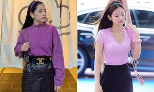 Chi Pu đẹp không kém khi theo loạt mốt giống Jennie