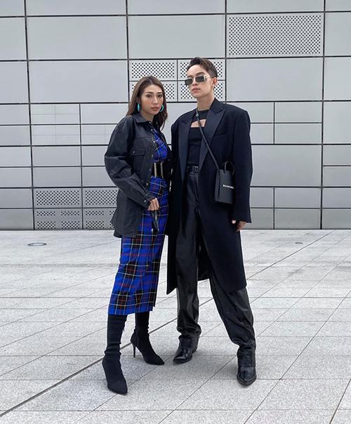Khổng Tú Quỳnh đang có mặt ở Seoul để tham dự tuần lễ thời trang cùng stylist Kelbin Lei.