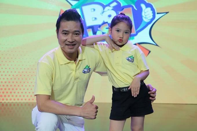 <p> Hồng Sơn và con gái tham gia gameshow <em>Bố là số 1.</em></p>