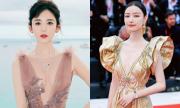 Người đẹp Trung Quốc khoe ngực với váy xẻ sâu đến eo