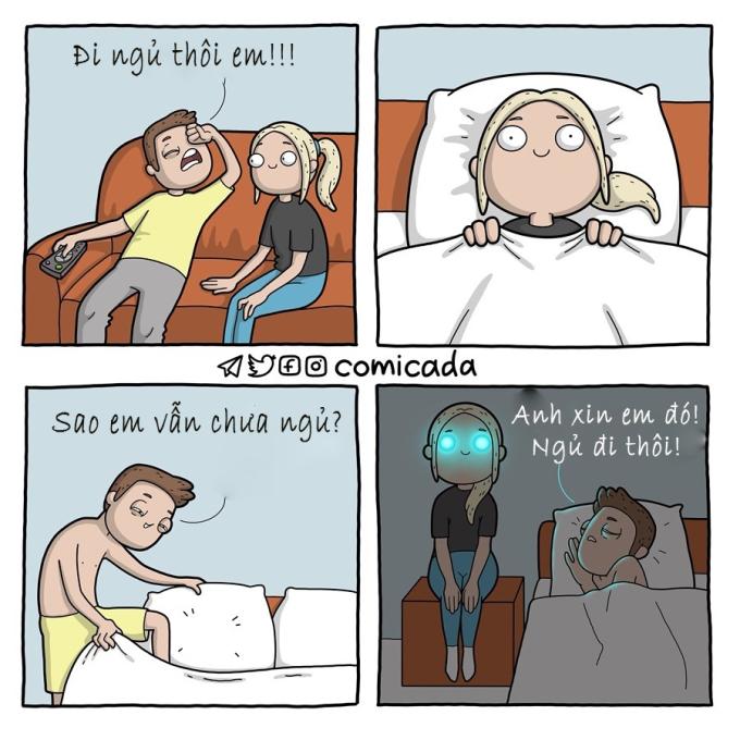 <p> Giờ giấc cũng là vấn đề khó hiểu của các nàng. Họ có thể thức suốt đêm để xem phim, để suy nghĩ về một vấn đề mà chỉ họ hiểu.</p>