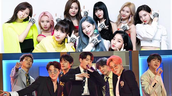 Twice và BTS là hai tên tuổi Kpop nổi đình đám ở Nhật Bản.