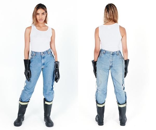 Thiết kế độc đáo này đến từ thương hiệuOlivia Oblanc - một nhà mốt chuyên cho ra đời những kiểu quần jeans độc lạ, trị giá 175$ - khoảng hơn 4 triệu đồng.