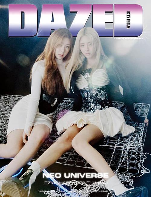 Chae Ryeong (trái) và Yuna mặc đồ khá sexy so với tuổi.