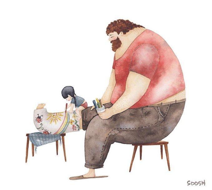 <p> Dù có đau bố cũng chẳng nói ra, với con bố luôn là người hùng, bố chẳng biết đau, chẳng biết mệt mỏi....</p>